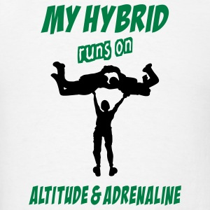 My Hybrid Runs On Altitude & Adrenaline - Men's T-Shirt