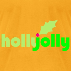 Holly Jolly Eco-Friendly Cotton Tote - Men's T-Shirt by American Apparel