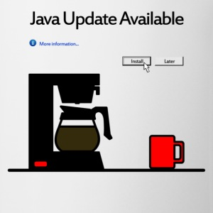 Java Update Unbranded | Men's Lightweight Ringer T - Coffee/Tea Mug