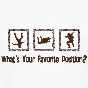 What's Your Favorite Position? Brown T-Shirts - Men's Premium Long Sleeve T-Shirt