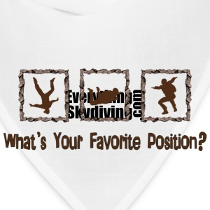 What's Your Favorite Position? Brown Women's T-Shirts - Bandana