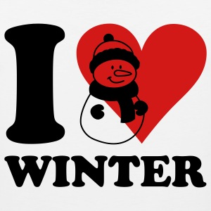 i love winter Kids' Shirts - Men's Premium Tank