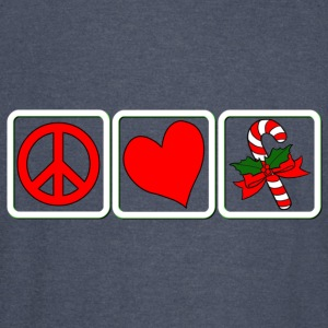 PEACE-LOVE-CANDY CANE - Vintage Sport T-Shirt