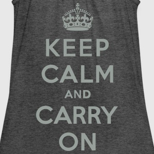 Keep Calm and Carry On (vector) Women's T-Shirts - Women's Flowy Tank Top by Bella
