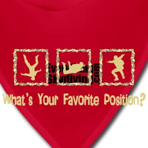 What's Your Favorite Position? Cream T-Shirts - Bandana