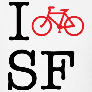 I Bike San Francisco Hoodie - Men's T-Shirt