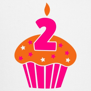 two 2 on a birthday cake cupcake Tanks - Trucker Cap