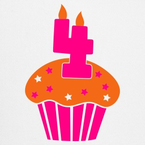 four on a  birthday cupcake cake 4 Tanks - Trucker Cap