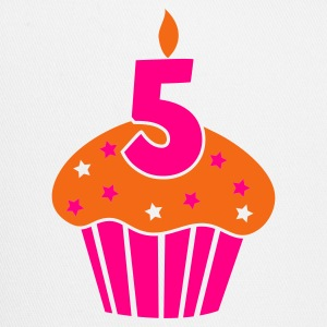 five on a birthday cake cupcake Tanks - Trucker Cap