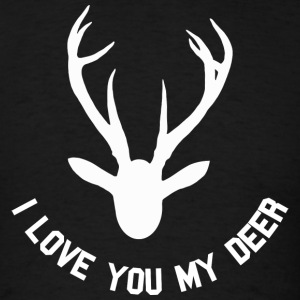 i love you my deer Sweatshirts - T-shirt pour hommes