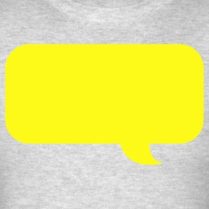 speech bubble new Long Sleeve Shirts - Men's T-Shirt