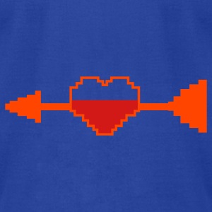 computer game health hearts arrow CUPID Hoodies - Men's T-Shirt by American Apparel