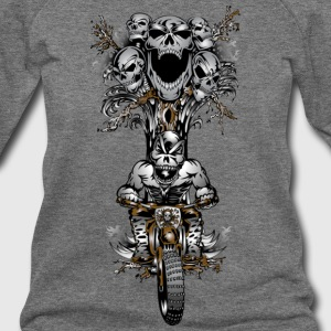 Skull Tree Dirt Biker - Women's Wideneck Sweatshirt