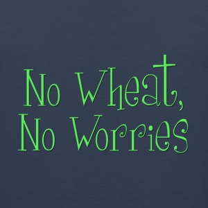 No Wheat, No Worries Kids' Shirts - Men's Premium Tank