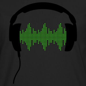 Headphones with Frequency-Equalizer DJ Music Sound Beat Pop  Women's T-Shirts - Men's Premium Long Sleeve T-Shirt
