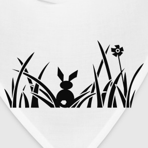 bunny bunnies rabbit hare meadow flower Sweatshirts - Bandana
