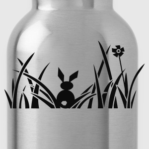 bunny bunnies rabbit hare meadow flower Women's T-Shirts - Water Bottle