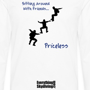 Sitting Around With Friends...Priceless - Men's Premium Long Sleeve T-Shirt