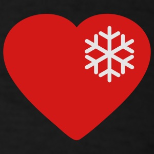 snow heart Hoodies - Men's T-Shirt