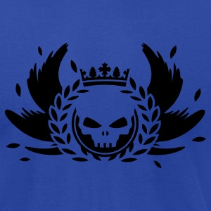 Skull with crown, wings and laurel wreath Hoodies - Men's T-Shirt by American Apparel
