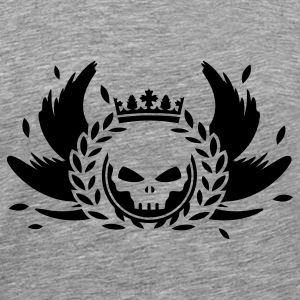 Skull with crown, wings and laurel wreath Sweatshirts - Men's Premium T-Shirt