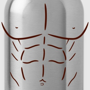 Fake Abs - Dark - Water Bottle