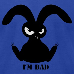 i´m bad rabbit bunny bunnies hare jackass eye evil gaze look Hoodies - Men's T-Shirt by American Apparel