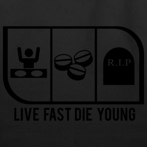 LIVE FAST DIE YOUNG - Eco-Friendly Cotton Tote