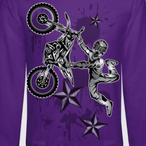 Star Splattered Dirt Biker - Crewneck Sweatshirt