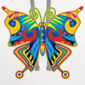 Hippy Butterfly Eco-Friendly Tees - Contrast Hoodie