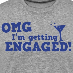 omg im getting engaged with coaktail glass marriage Long Sleeve Shirts - Men's Premium T-Shirt