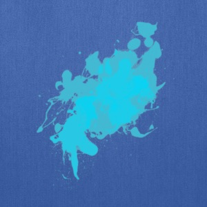 Cyan Splat T-Shirts - Tote Bag