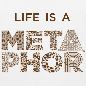 Life is a Metaphor Hoodie - Men's Premium Tank
