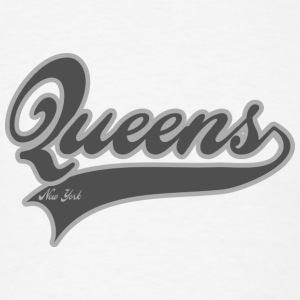 queens new york Buttons - Men's T-Shirt