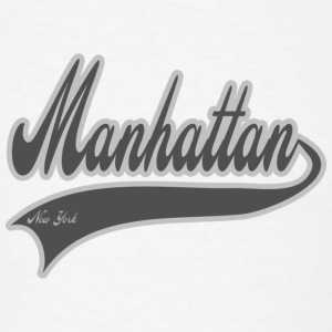 manhattan new york grey Buttons - Men's T-Shirt