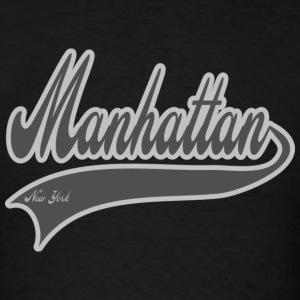 manhattan new york grey Hoodies - Men's T-Shirt