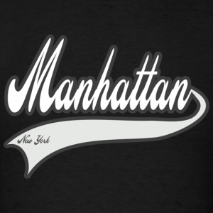 manhattan new york white Hoodies - Men's T-Shirt