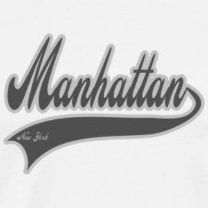 manhattan new york grey Hoodies - Men's Premium T-Shirt