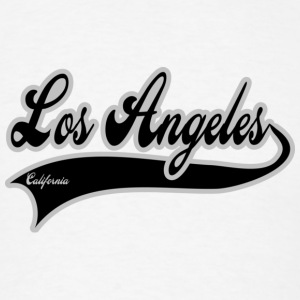 los angeles california Badges - T-shirt pour hommes