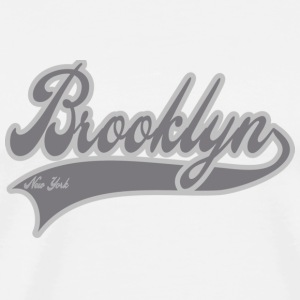 brooklyn new york grey Buttons - Men's Premium T-Shirt