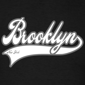 brooklyn new york white Hoodies - Men's T-Shirt