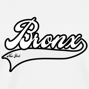 bronx new york white Buttons - Men's Premium T-Shirt