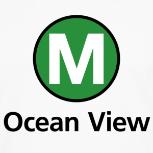 Muni M Ocean View Hoodie - Men's Premium Long Sleeve T-Shirt