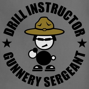Drill Instructor Gunnery Sergeant T-Shirts - Adjustable Apron