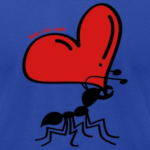 Ant Carrying the Love's Heart Hoodies - Men's T-Shirt by American Apparel