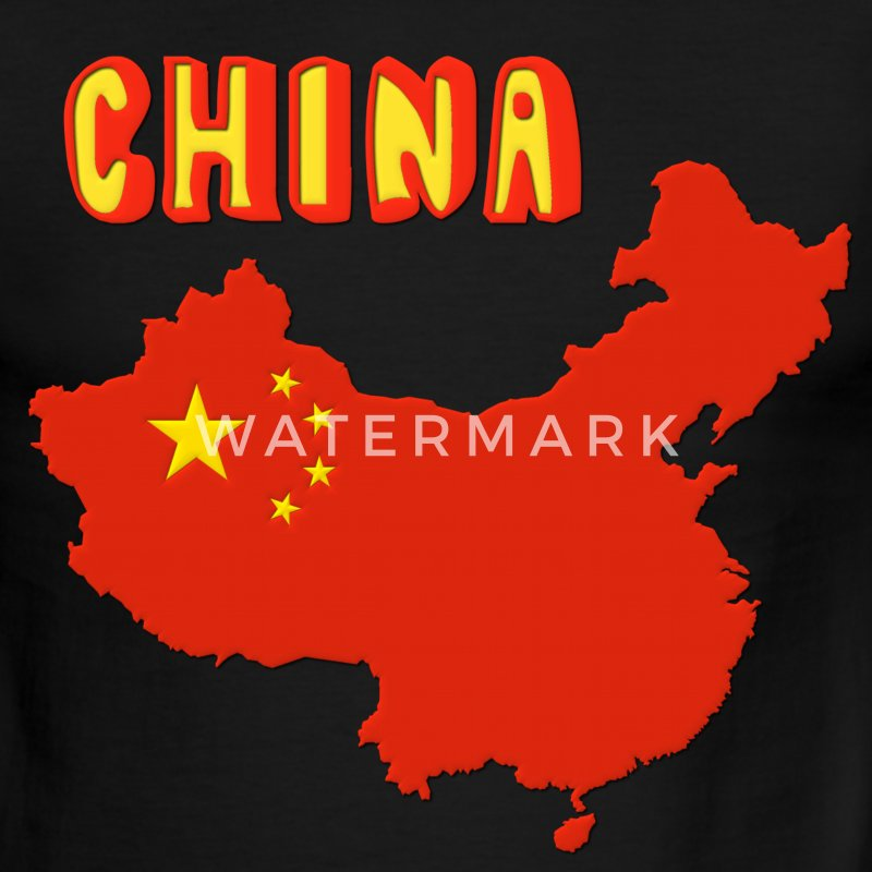 China Map Flag T-Shirts - Men's Ringer T-Shirt