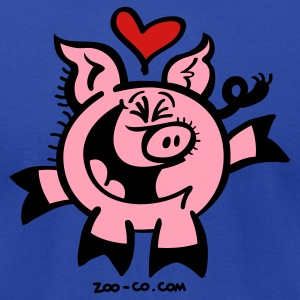 Broken Hearted Pig Hoodies - Men's T-Shirt by American Apparel
