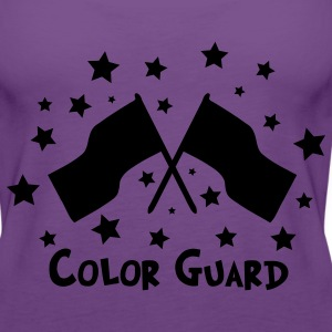 color guard flag stars Women's T-Shirts - Women's Premium Tank Top