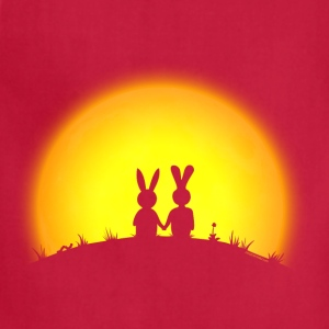 sunset romance bunny bunnies hare rabbit easter hill sun date gras Hoodies - Adjustable Apron