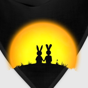 sunset romance bunny bunnies hare rabbit easter hill sun date gras Hoodies - Bandana